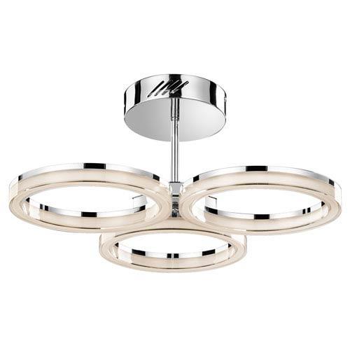 Ithican Chrome Three-Light LED Semi-Flush Mount