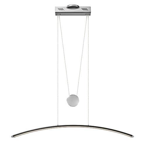 Elan Sava Black with Chrome One-Light LED Linear Pendant