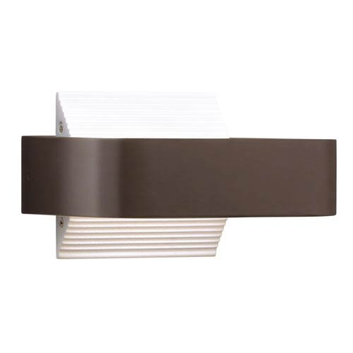 Elan Berr Architectural Bronze One-Light Exterior LED Wall Sconce