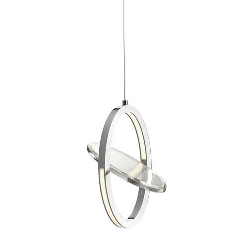 Oliv Chrome One-Light LED Mini Pendant
