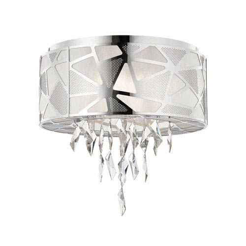 Elan Angelique Chrome Five-Light Flush Mount
