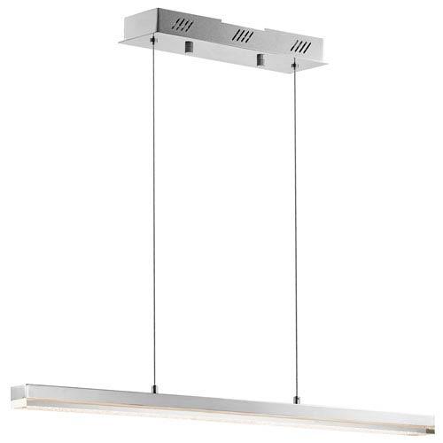 Gorva Chrome One-Light LED Linear Pendant