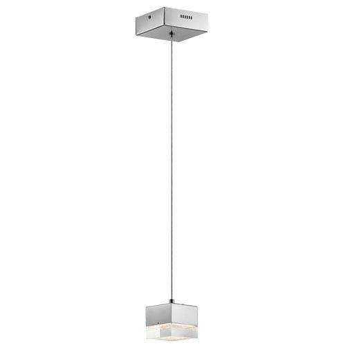 Gorva Chrome One-Light LED Mini Pendant