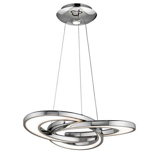 Destiny Chrome 28-Inch Three-Light LED Pendant