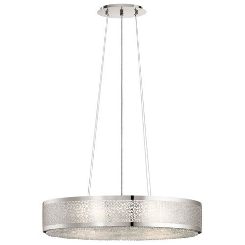 Massimo Polished Nickel 18-Inch Eight-Light Pendant