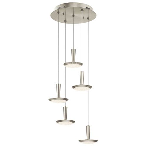 Karah Brushed Nickel 17-Inch LED Pendant