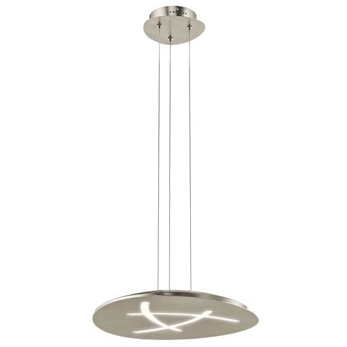 Orku Brushed Nickel LED Pendant