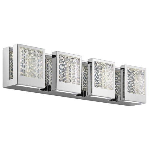 Pandora Chrome LED Four-Light Bath Sconce