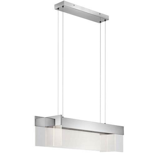 Geo Chrome 11-Inch LED Linear Pendant