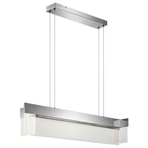 Geo Chrome LED Linear Pendant