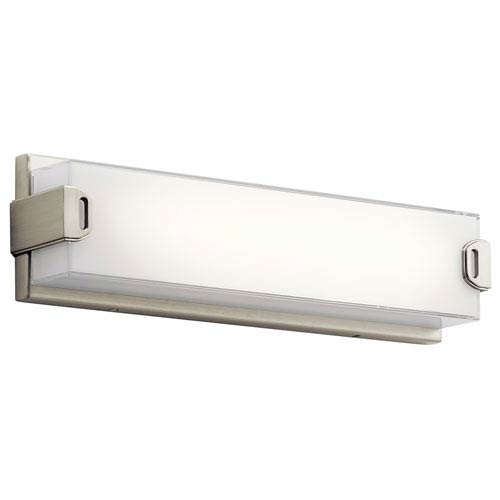 Xeo Brushed Nickel LED 18-Inch One-Light Bath Sconce