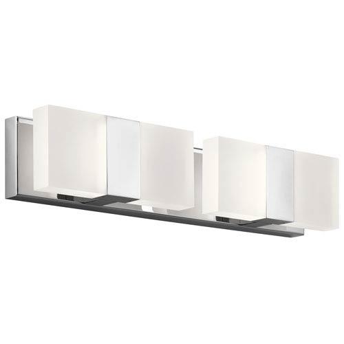 Scope Chrome LED Four-Light Bath Sconce