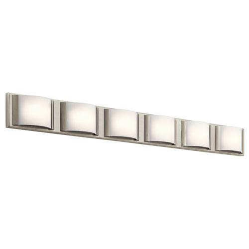 Elan Bretto Brushed Nickel LED Six-Light Bath Sconce
