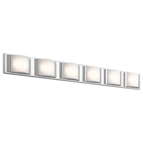 Bretto Chrome LED Six-Light Bath Sconce