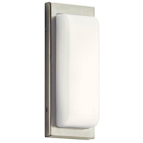 Elan Kelsi Brushed Nickel LED Bath Sconce