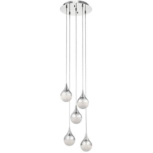 Kiss Chrome LED Pendant