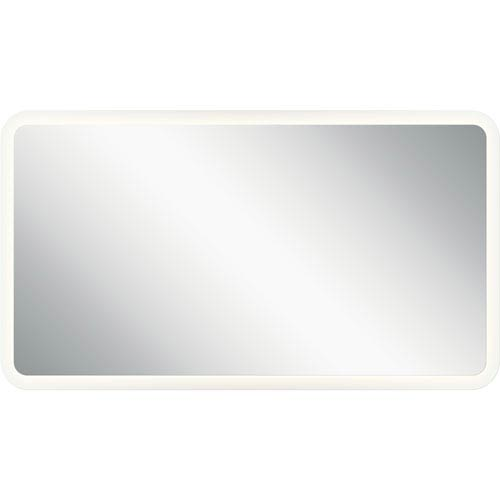 Frosted 20-Inch LED Lighted Rectangular Mirror