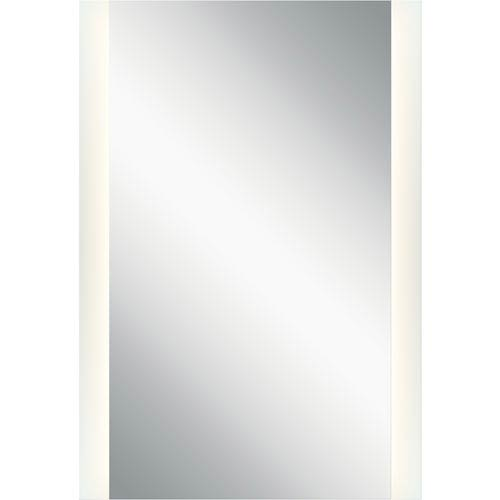 Frosted 39-Inch Two Strip LED Lighted Rectangular Mirror