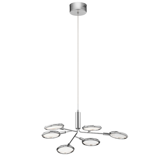 Samba Chrome 27-Inch LED Chandelier