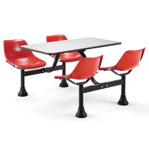 Large Group/Cluster Red Table and Chairs
