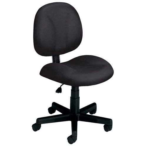 OFM Office Furniture Black Fabric Computer Superchair