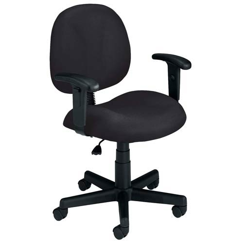 OFM Office Furniture Black Fabric Computer Superchair with Arms