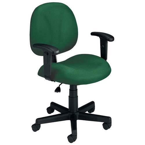 OFM Office Furniture Green Fabric Computer Superchair with Arms