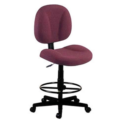 Wine Fabric Computer Superchair with Drafting Kit