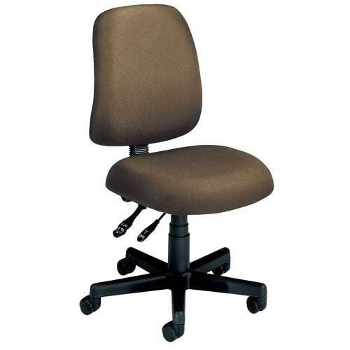 Taupe Fabric Computer Posture Chair