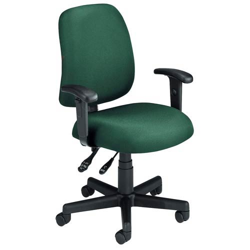 Ofm Office Furniture Green Fabric Computer Posture Chair With Arms