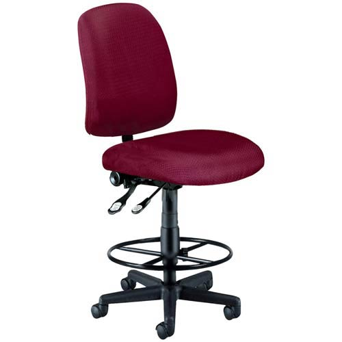 Wine Fabric Computer Posture Chair with Drafting Kit