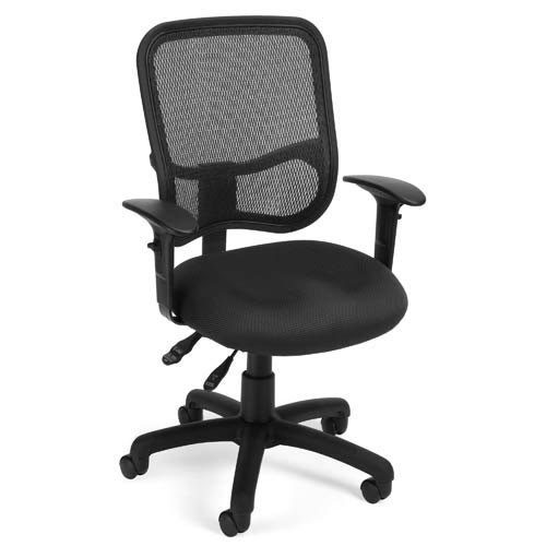 OFM Office Furniture Modern Mesh Black Ergonomic Task Chair with Arms