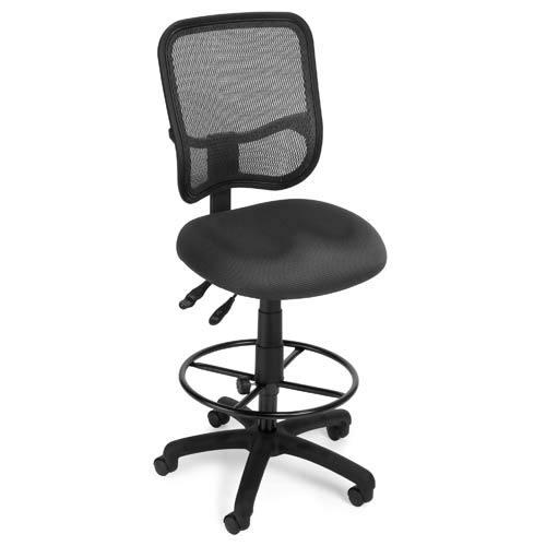 OFM Office Furniture Modern Mesh Gray Ergonomic Task Stool