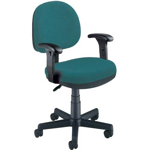 Teal Fabric Lite Use Task Chair with Arms