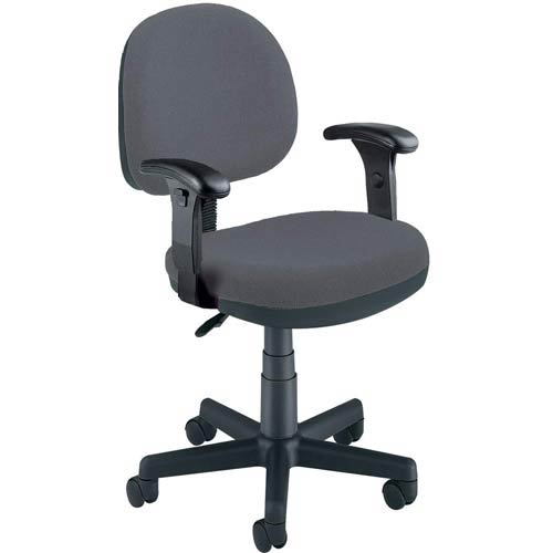 OFM Office Furniture Gray Fabric Lite Use Task Chair with Arms