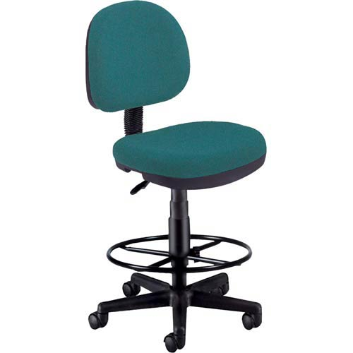 OFM Office Furniture Teal Fabric Lite Use Task Chair with Drafting Kit