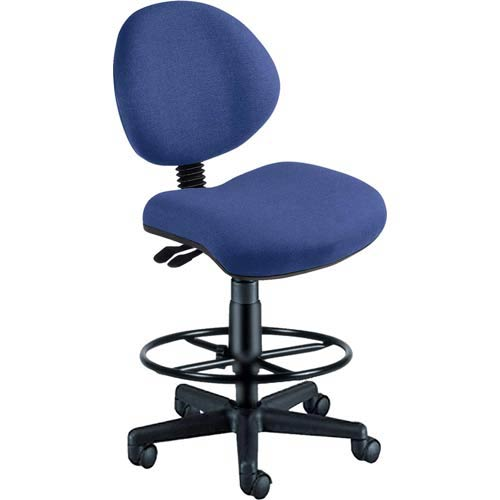 OFM Office Furniture Blue Fabric 24 Hour Task Chair with Drafting Kit