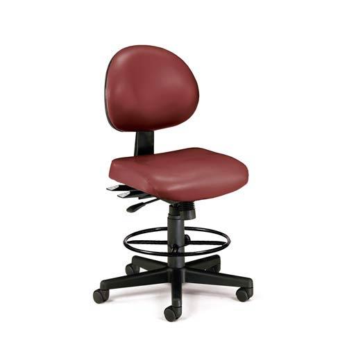 Wine Vinyl 24 Hour Task Chair with Drafting Kit
