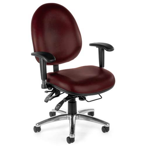 Vinyl 24 Hour Wine Computer Task Chair with High Back