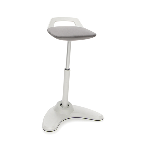Gray Vivo Height Adjustable Stool
