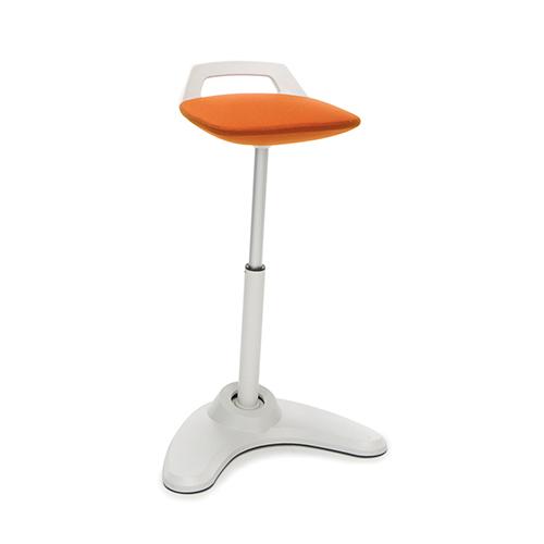 Orange Vivo Height Adjustable Stool