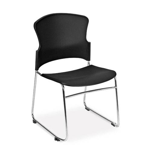 OFM Office Furniture Black Multi-Use Stacking Chair