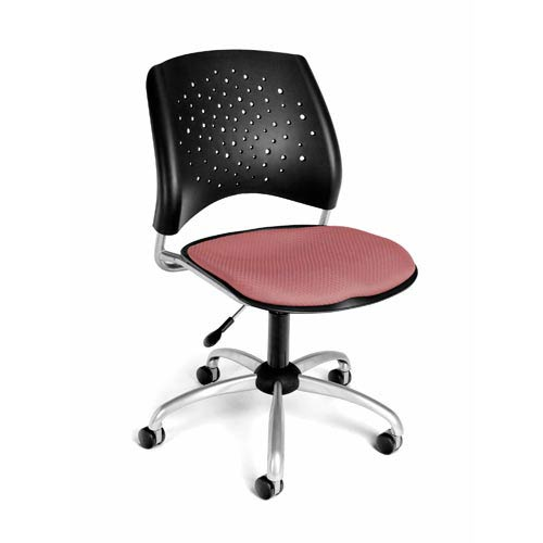 Stars Swivel Coral Pink Task Chair