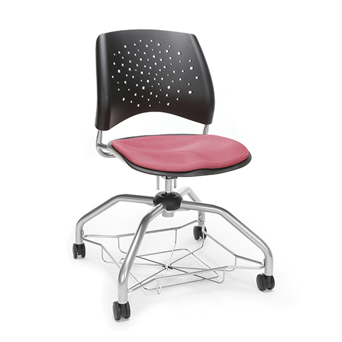 Coral Pink Stars Foresee Chair