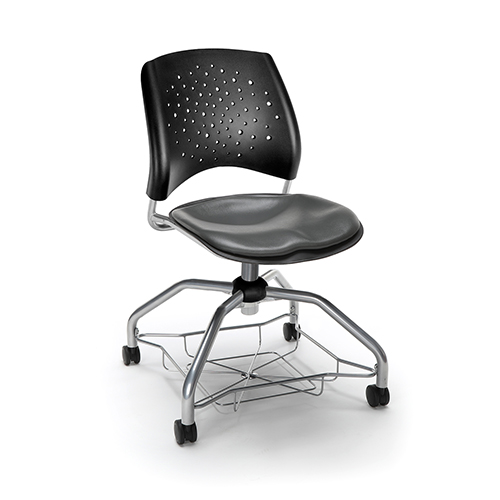 Charcoal Stars Foresee Vinyl Chair
