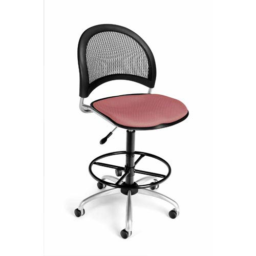Moon Swivel Coral Pink Task Chair