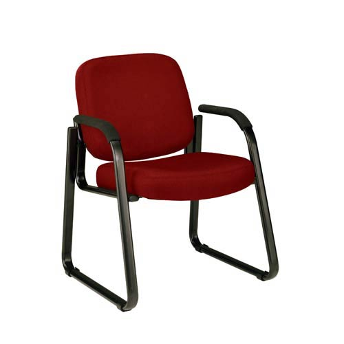 Wine Fabric Reception Chair