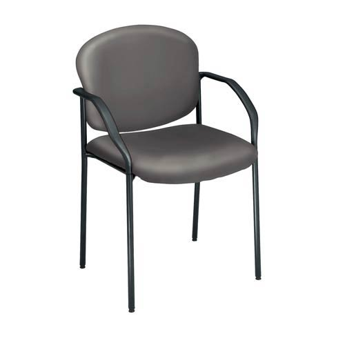 Charcoal Vinyl Reception Chair