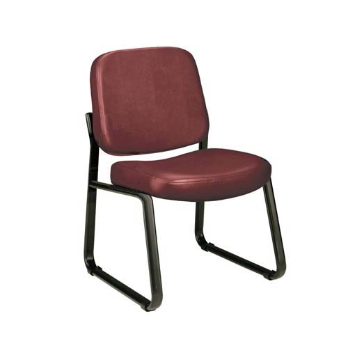 OFM Office Furniture Wine Vinyl Armless Reception Chair