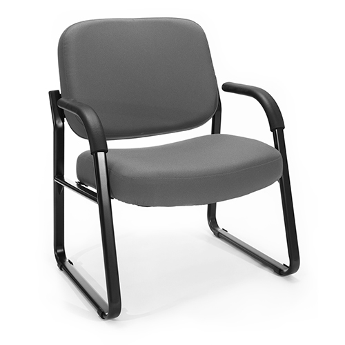 Gray Big and Tall Guest/Reception Chair